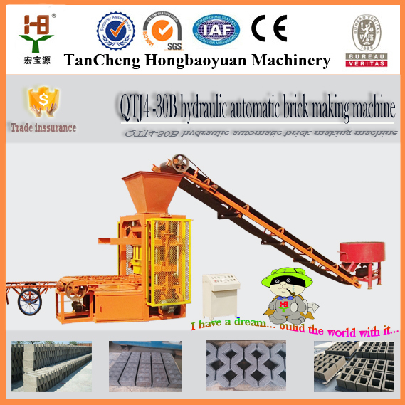 Best selling QTJ4-26C coal ash, fly ash brick machine for sale ,brick production line