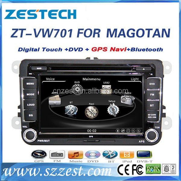 Hot selling 7 inch 2 din car dvd player for Volkswagen Passat b6 car gps navigator with car radio player GPS DVD USB/SD AM/FM