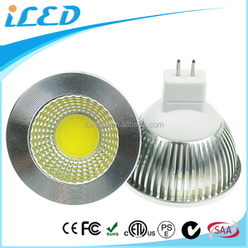 Stage Showcase Lighting 2700K COB MR16 LED Light GU5.3 Bulb Wide Beam Angle Spotlight 5W 12V 24V
