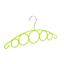 Newworld Factory Direct Sell Fluorescent Green PVC coated Round Wire Scarf Hanger For Tie