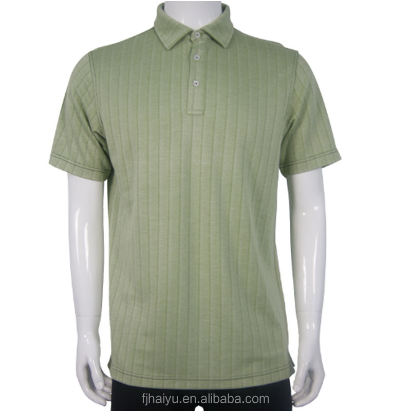 Mens' hot selling smoothy breathable knitted travelling polo shirt
