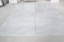 1219mmx1219mm polihsed oriental white custom cut marble table top