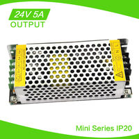 New 24V DC 5A Regulated Switching Power Supply 120W led power supply