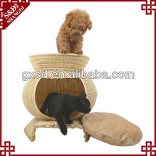 Eco-friendly rattan pet products handmade durable designer cat house