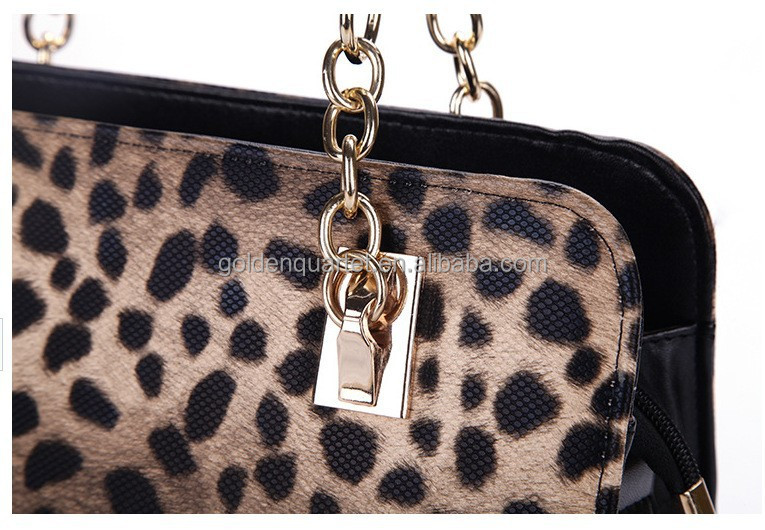 2017 Noble Lady Sequin Leopard Tote Bag