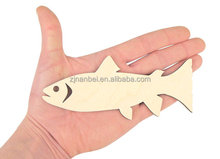 Custom laser cut wooden fish decoration, wood hanging craft