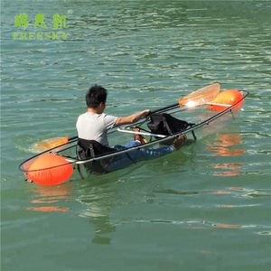 cheap used plastic 2 person double seat China sit on top wholesale sea transparent clear kayak for sale malaysia