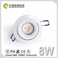 Norway Market dim warm led downlight dimmable 2700k 83mm Cutout cri99 cob downlight