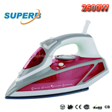 2600W plastic steam iron with auto shut off/ceramic soleplate /Large capacity 450ml