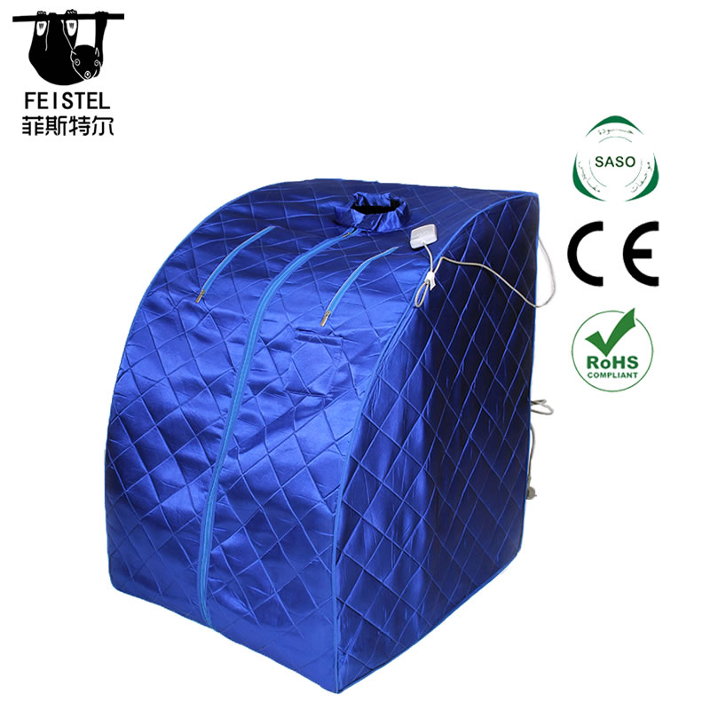 Infrared FAR IR Negative Ion Portable Indoor Personal Spa Sauna by Durherm with Air Ionizer, Heating Foot Pad and Chair