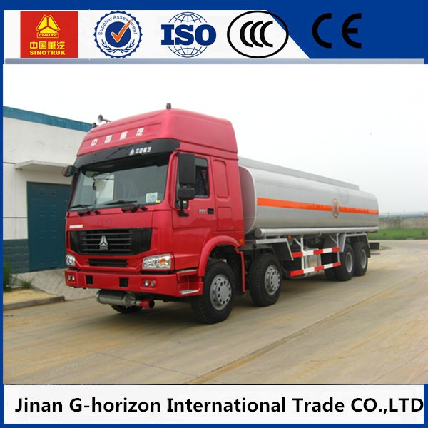 Hot sale chemical truck factory direct fuel tank truck 8x4 oil tank truck dimension
