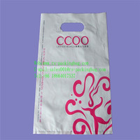 plastic die cut handle bag for shopping