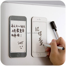 Creative Phone Shape Design Fridge Magnet Dry Erase Flexible Magnetic Whiteboard/Memo Pad Board/Dialog Box Magnet