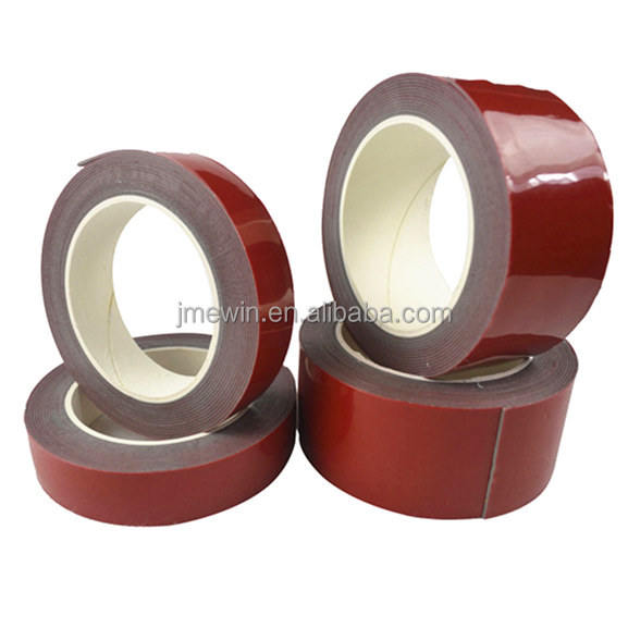Acrylic adhesive Double sided heat resistant clear white black grey VHB foam tape