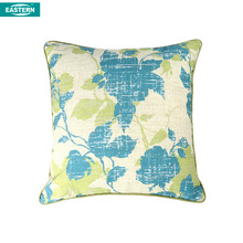 Custom Printing Natural Line Material Washable Pillow Case leaf design throw pillow case