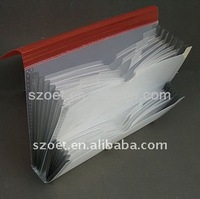 Custom plastic clear or colored pocket file case/folder made of eco-friendly PP