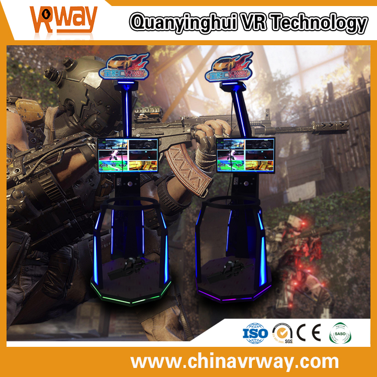 Single player 9D shooting game / exciting adult shooting machine air warrior