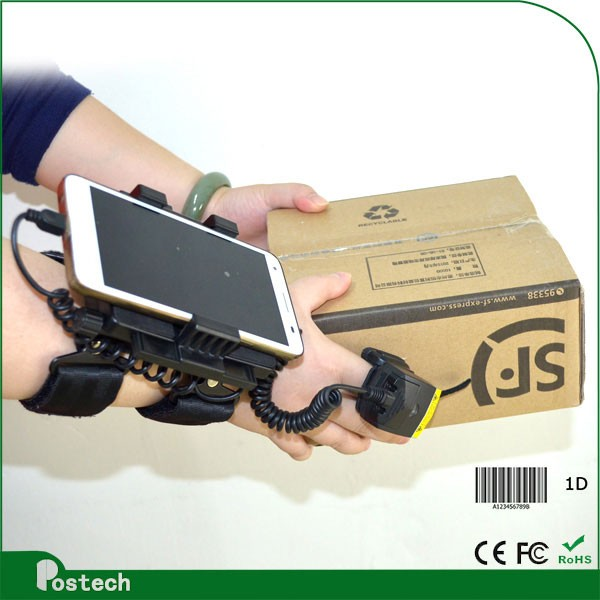 WT01+ FS01 Wearable pda barcode scanner android for android tablet pc / smartphone