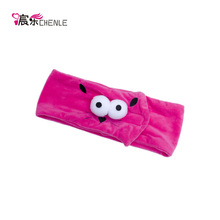 Under one dollar customer logo printed make up headbands with hook and loop fasteners