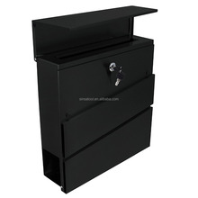 modern design stainless steel apartment mailbox with newspaper holder