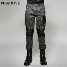 K-263 PUNK RAVE Military Uniform Tooling Vintage Cargo Trousers With 3D Pocket