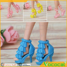 10 Pair of Girl Dolls Toys High-heeled Shoes Boots Stage Shoes Doll Accessories for Children Girls Birthday Gift Random Style an