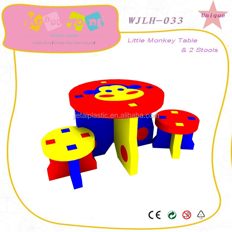 New design kids furniture set pink,colorful and cute child kindergarten desk and chair set