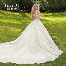 Princess western modern spring style bridal gown lace wedding dresses
