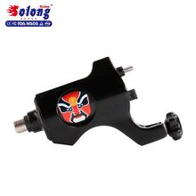 Solong M652A-1 Black Color Alloy 4.5w Taiwan Motor RCA Connection Customized Logo Machines Tattoo Gun Alloy Tattoo Machine