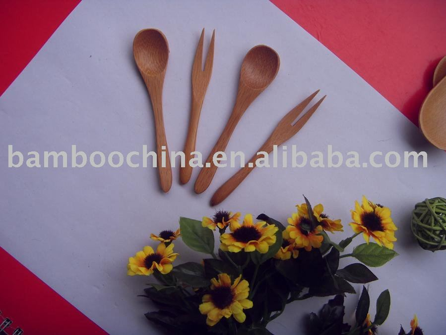 mini bamboo fork /bamboo spoon