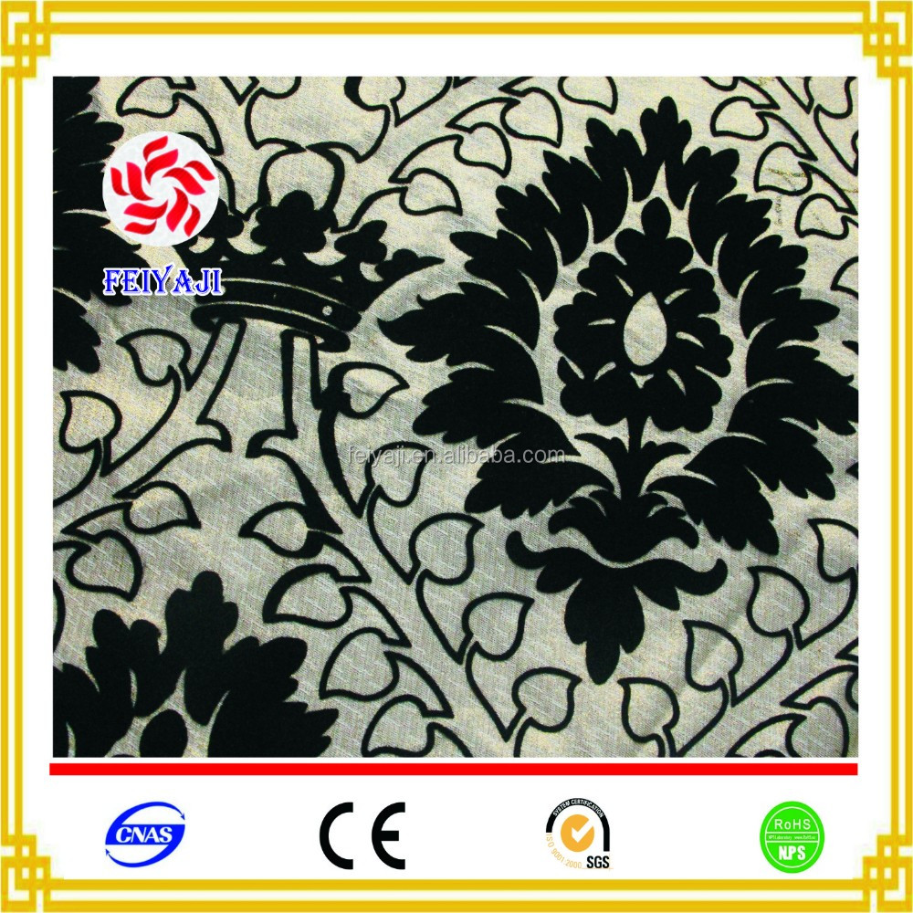 New style flocked velvet fabric price per meter of home textile sofa fabric