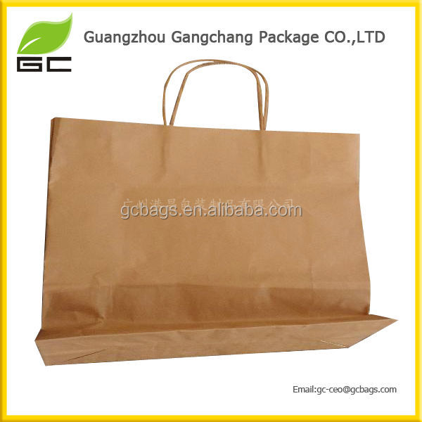 Custom printed brown cement kraft paper packaging bag,paper shopping bag,shopping packaging bag