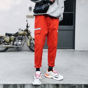 2019 Spring and summer big pockets pant men / cargo trousers