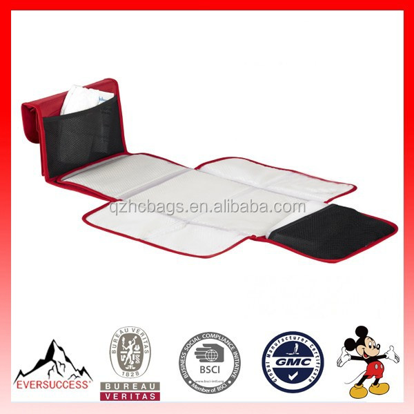 Baby Diaper Bag Folding Changing Mat with Mesh Pocket