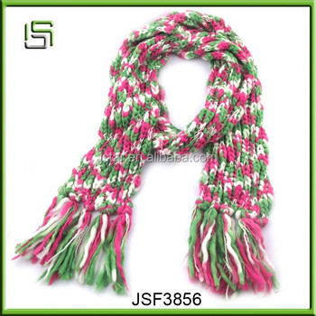 New fashion cheap winter scarf with tassels