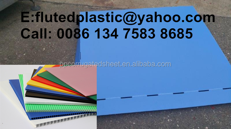 High quality PP corrugated plastic pallet slip sheet