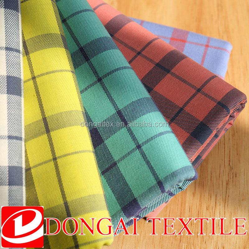 100% cotton yarn dyed woven fabric tartan flannel fabric pajama fabric