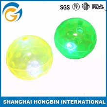 Promotional Customized LED Bouncy Ball with Light Glitter