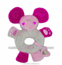EN71,2,3 pink rattle baby doll toy