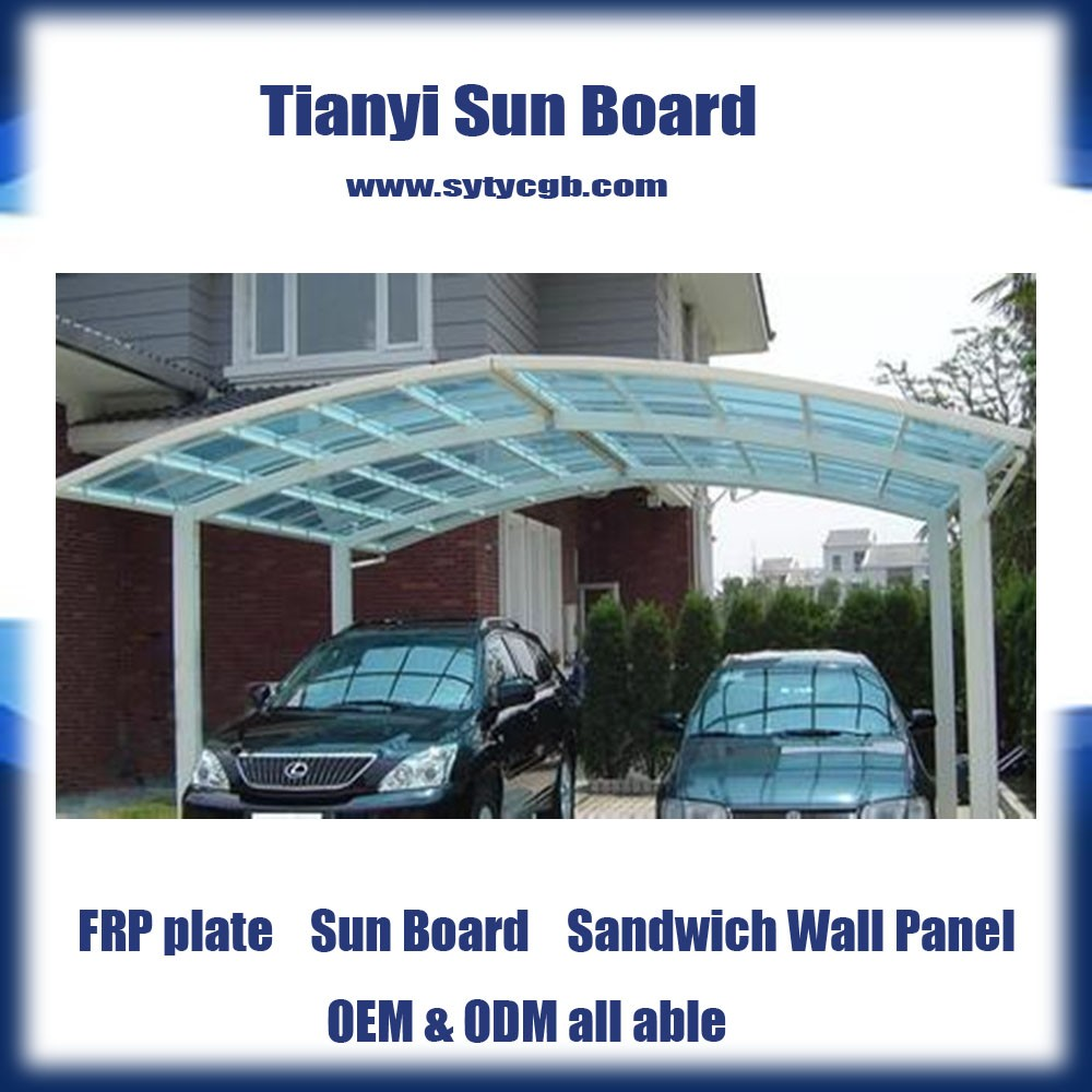 0.8mm FRP sun sheet for roofing