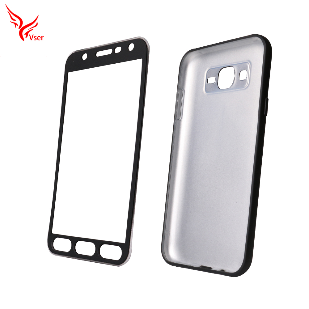 2017 TPU PC 360 Degree Full Body Back Phone Cover Mobile Phone Case for samsung galaxy j7 j5 j3 j2