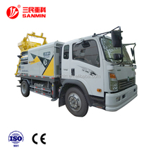 Modern design Double shaft forced truck-mounted concrete mixing pump Truck mounted mixer Diesel fuel pump A6/HBC50B