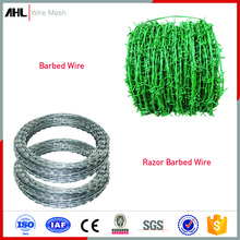 Low Price High Security PVC Coated Galvanized Anti Rust Chain Link Fence Prison Fence Top Razor Barbed Tape Wire Mesh Fencing