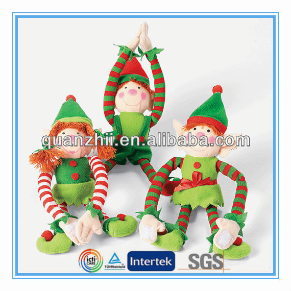 Cheap price custom plush christmas elf