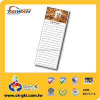 Customized magnetic memo pads magnet for gifts