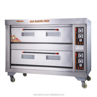 2 layer 6 tray Stainless Steel Commercial gas power source baking oven
