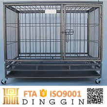 Large square tube dog cage kennel