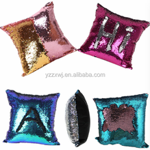 free sample mermaid sequin pillow/sequin throw pillow/Mermaid Reversible Sequin Colour changing 40*40cm pillow cushion