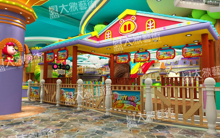 GG Bond Indoor Them Park Decoration Design