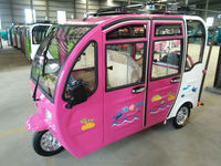 four door electric solar tricycle use for taxi